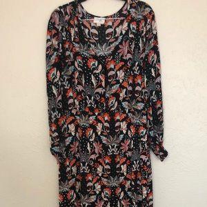 Nordstrom Rack Floral Print Maxi Dress   size L